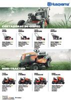Catálogo Husqvarna Tractor y Cortadora de cesped